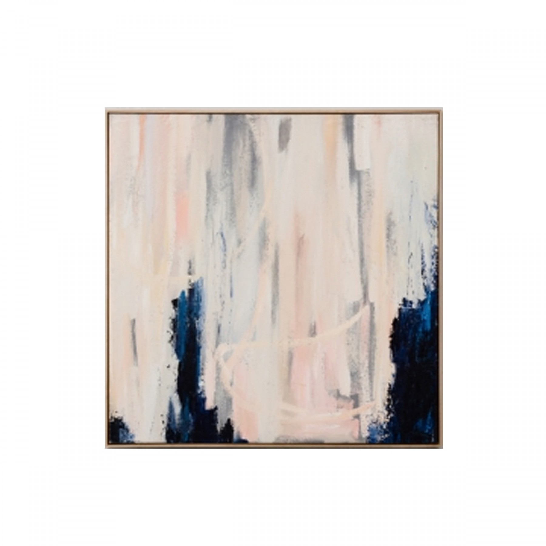 Fredrika Framed Navy Blush Painting Beyond Furniture