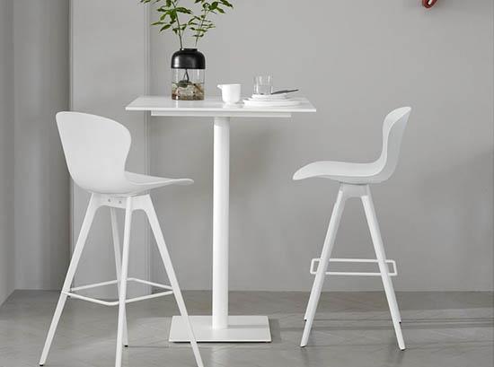 Adelaide designer bar stool - white