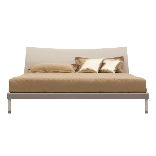 WAVE MODERN BEIGE BED FRAME