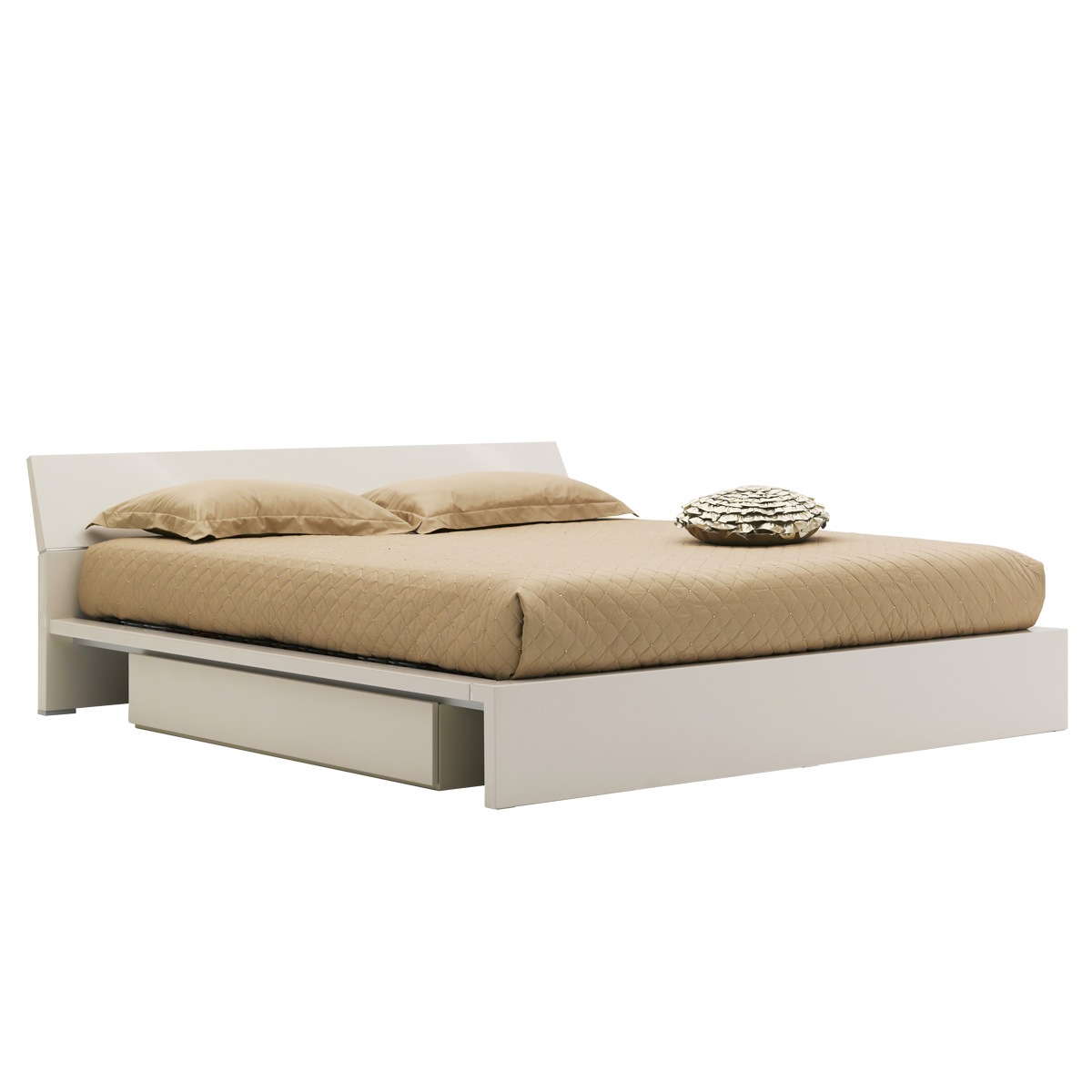 Cassetti storage bed king glossy beige beyond furniture for Beds sydney