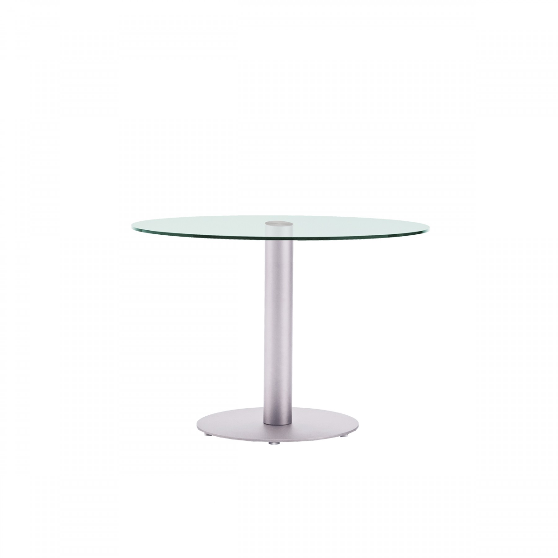 Hudson glass pedestal dining table beyond furniture for Pedestal dining table chairs