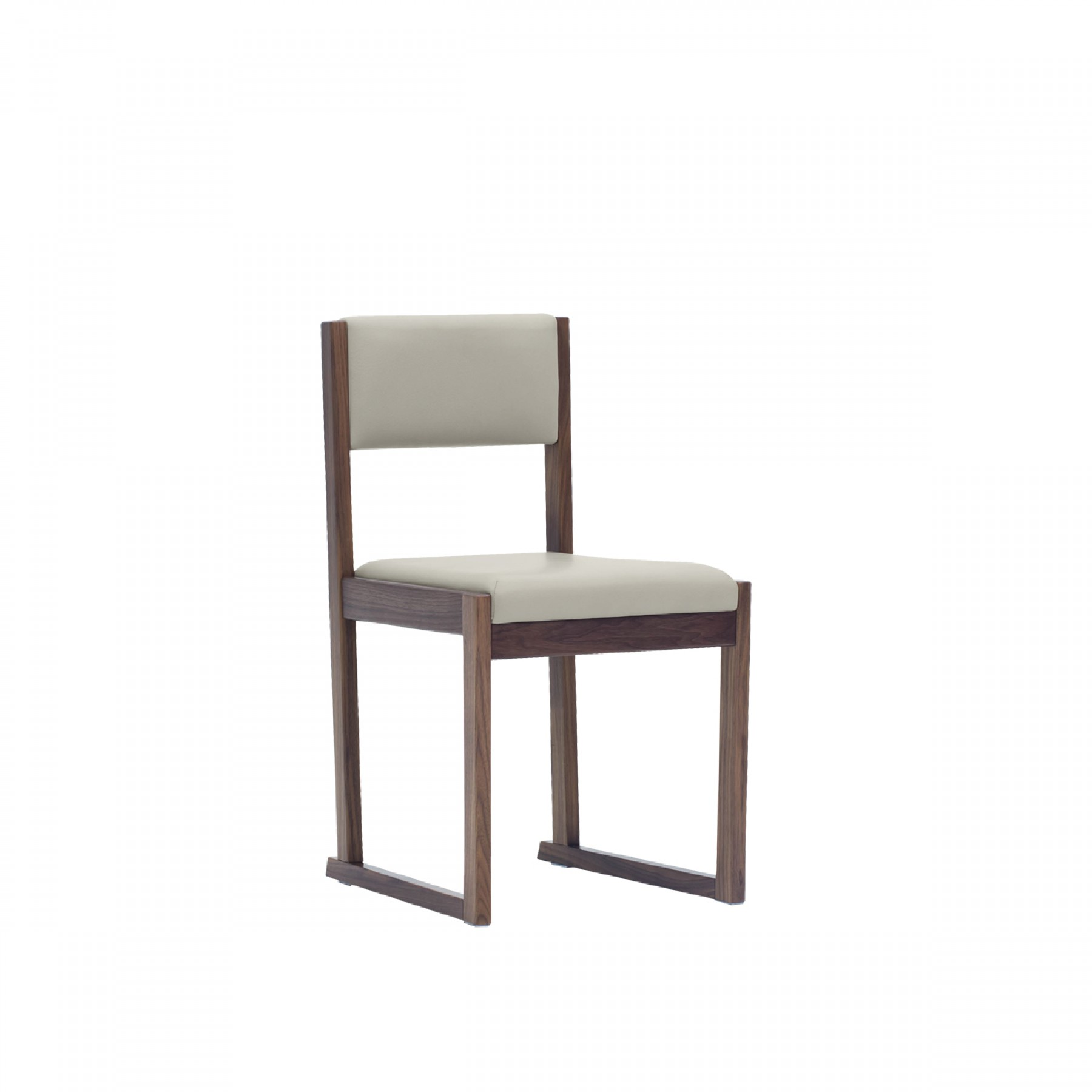Kell Modern Timber Dining Chair Sleigh Leg