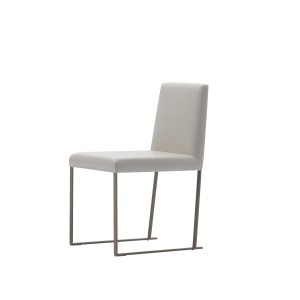 lia modern industrial leather dining chair