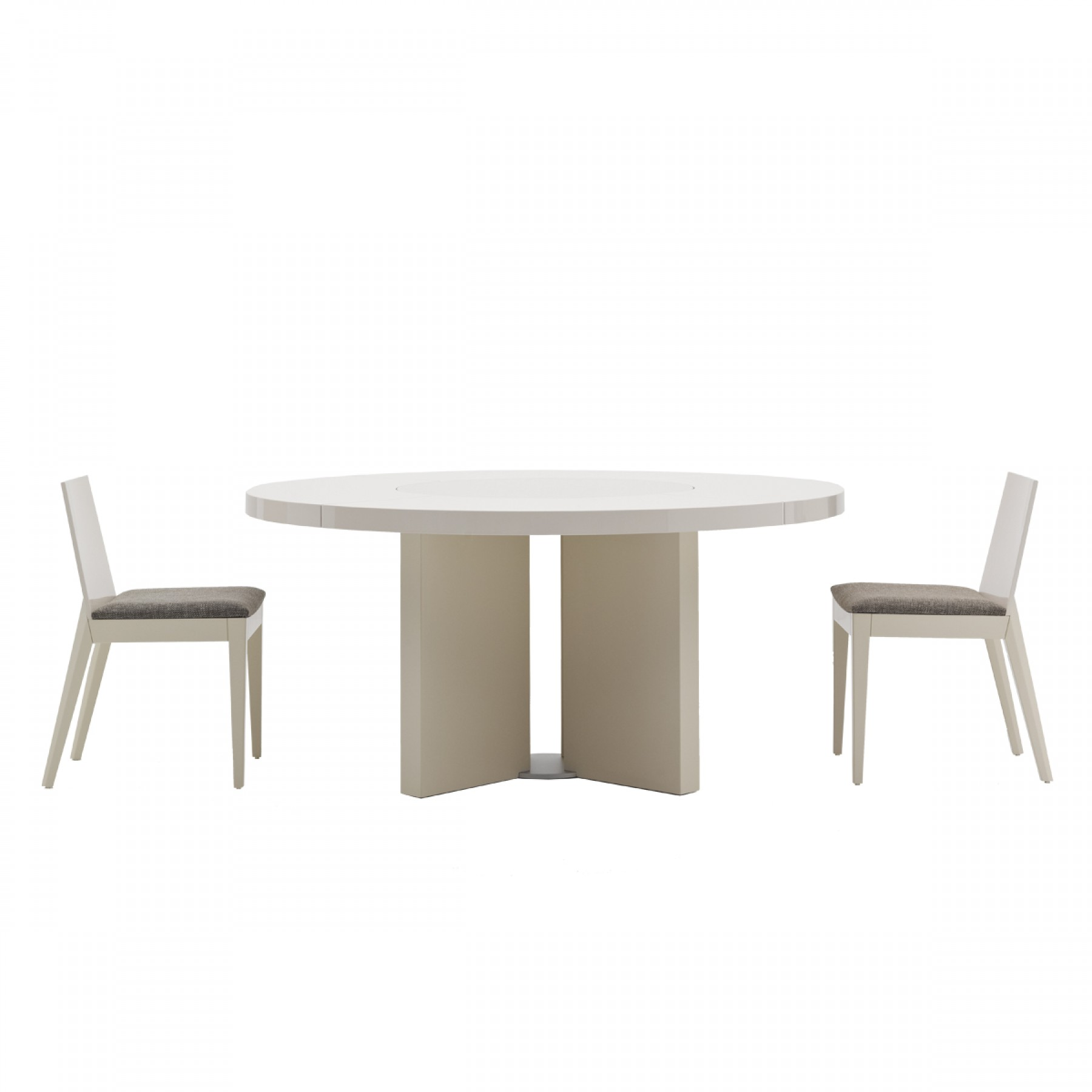 midollo glossy white dining table beyond furniture
