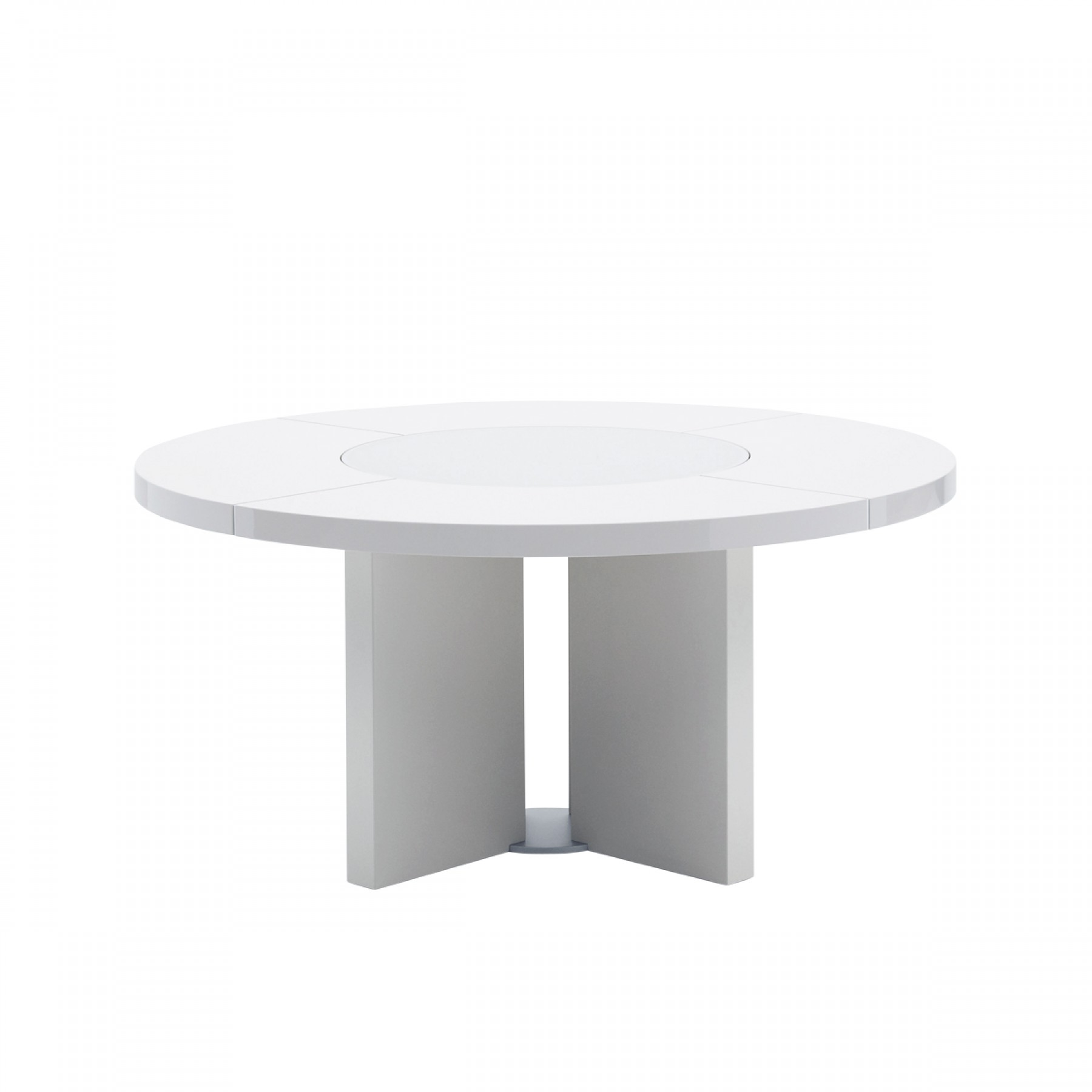 Midollo glossy white dining table beyond furniture White round dining table