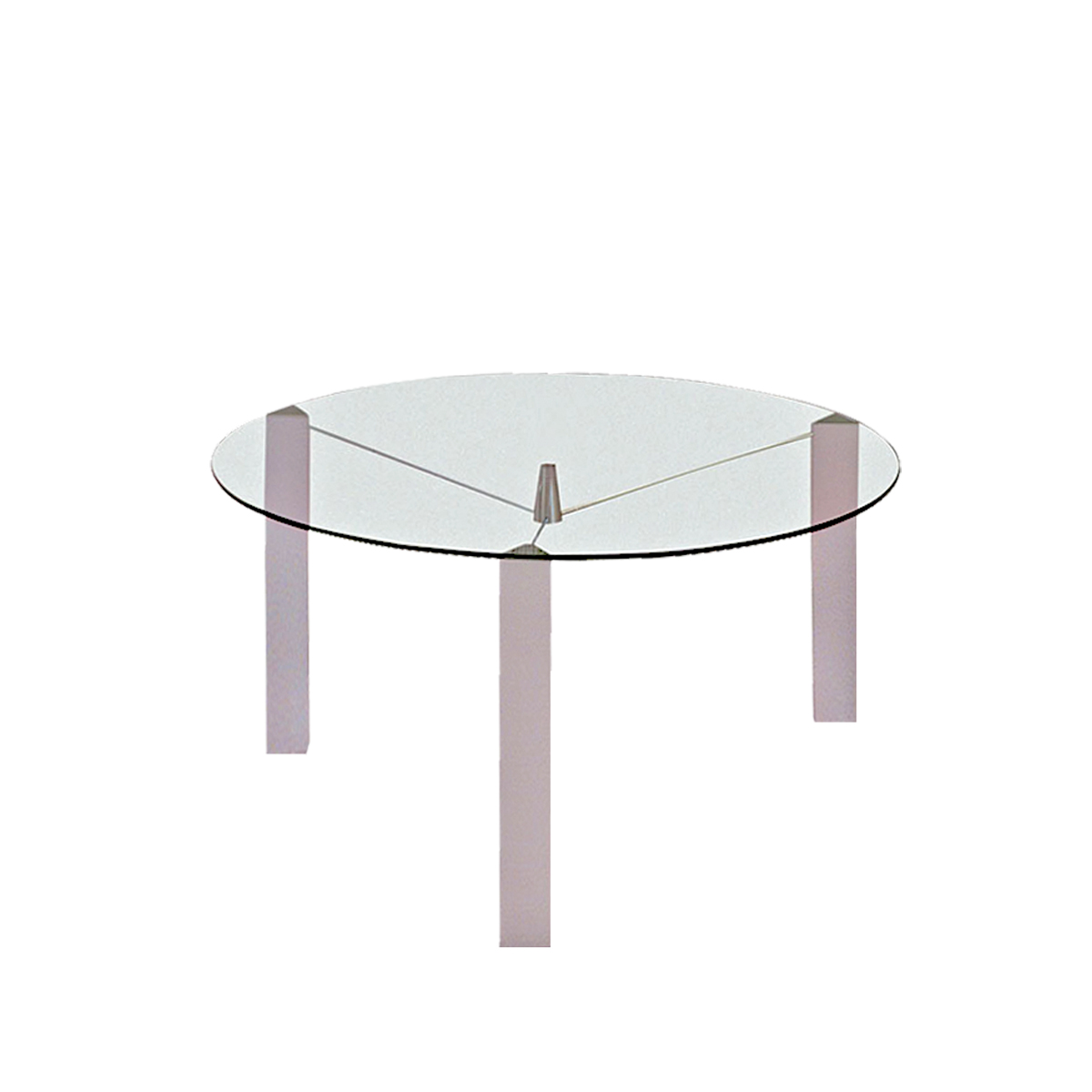 Occhio round glass dining table 1360mm clear glass for Round glass dining table