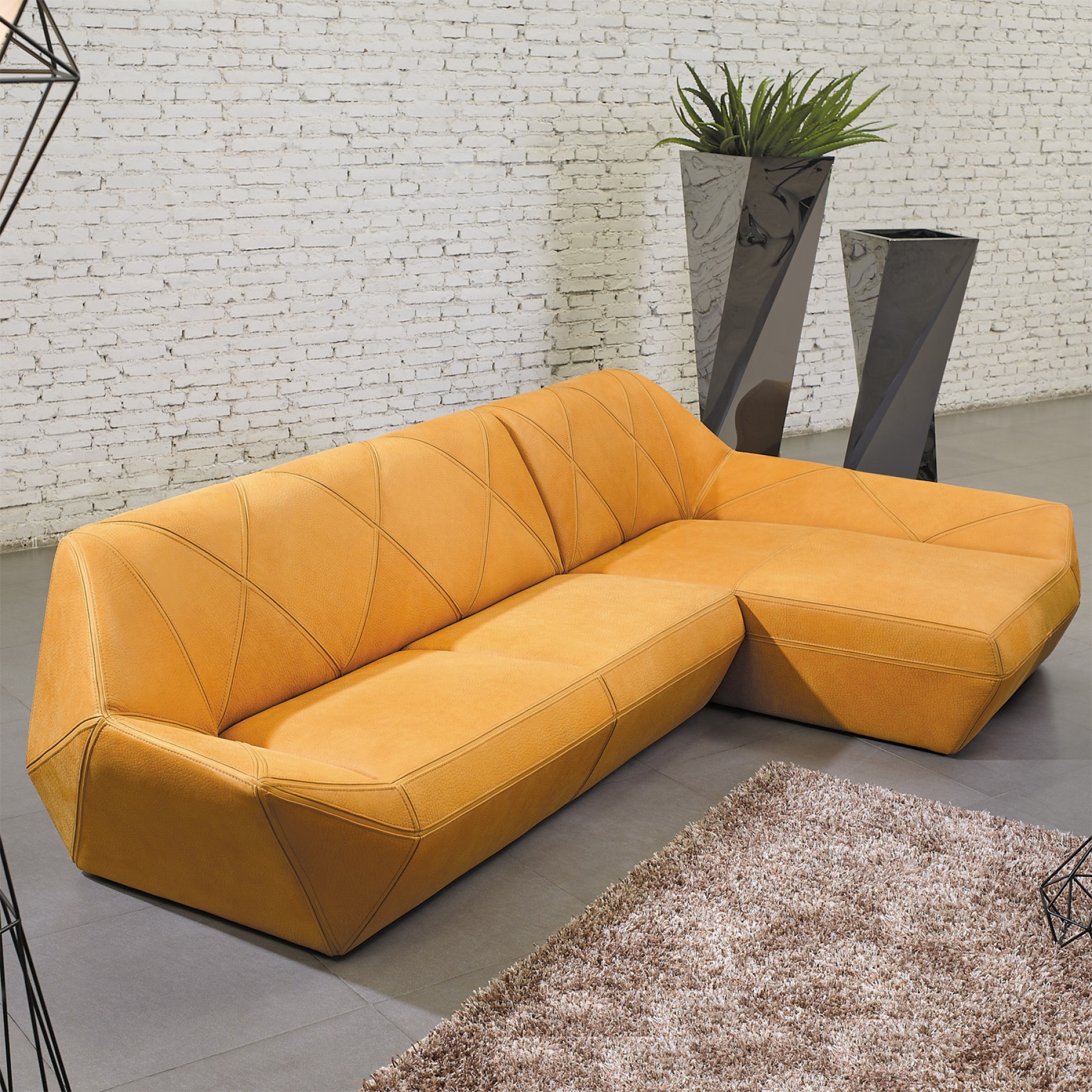 Diamante chaise sofa beyond furniture for Chaise furniture sale
