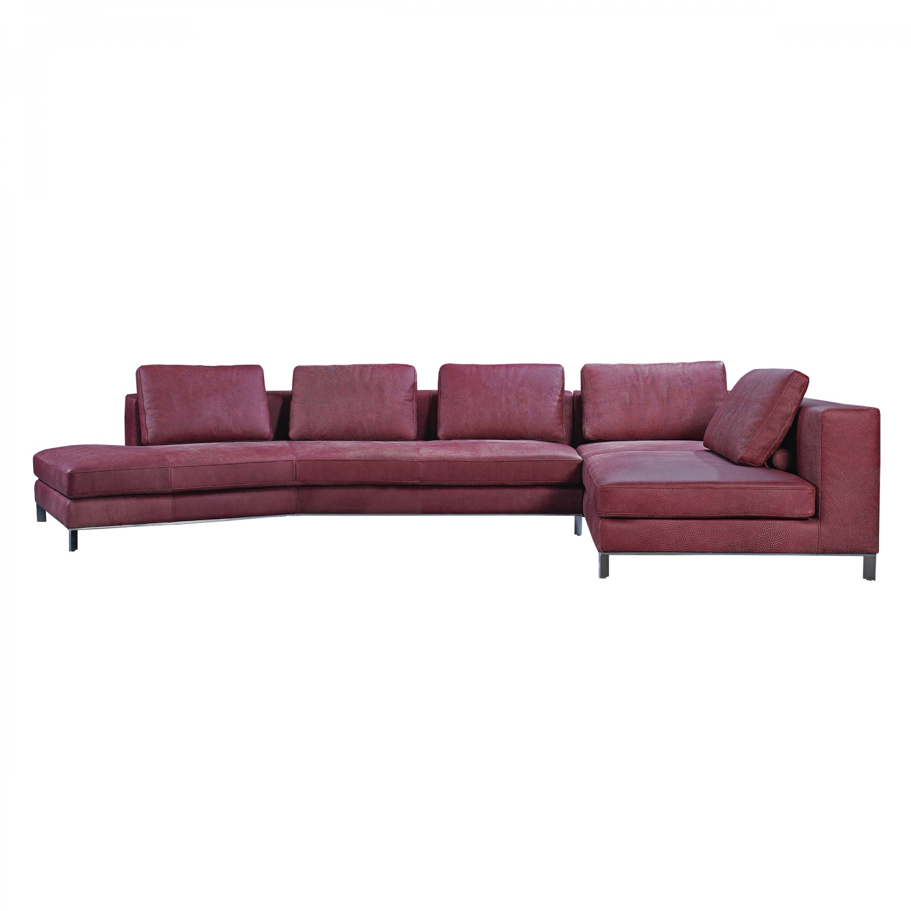 Liberta angled corner sofa beyond furniture for Angled chaise lounge sofa