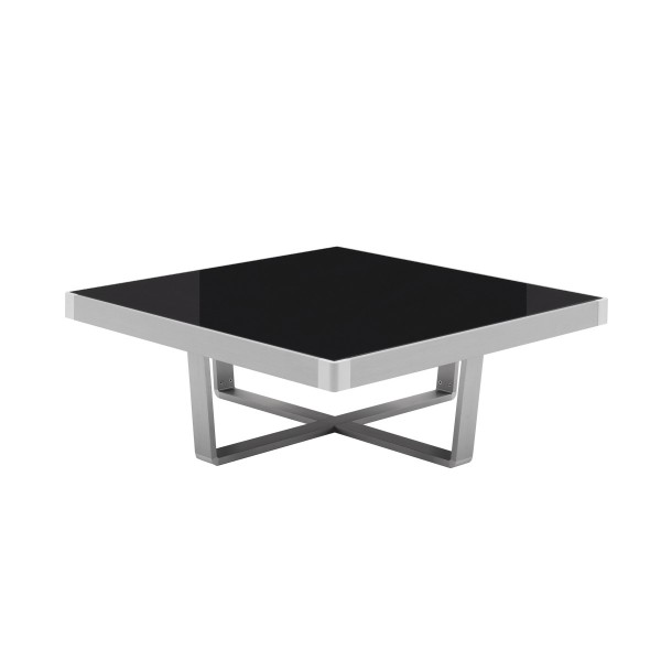SLIDE SQUARE GREY GLASS COFFEE TABLE