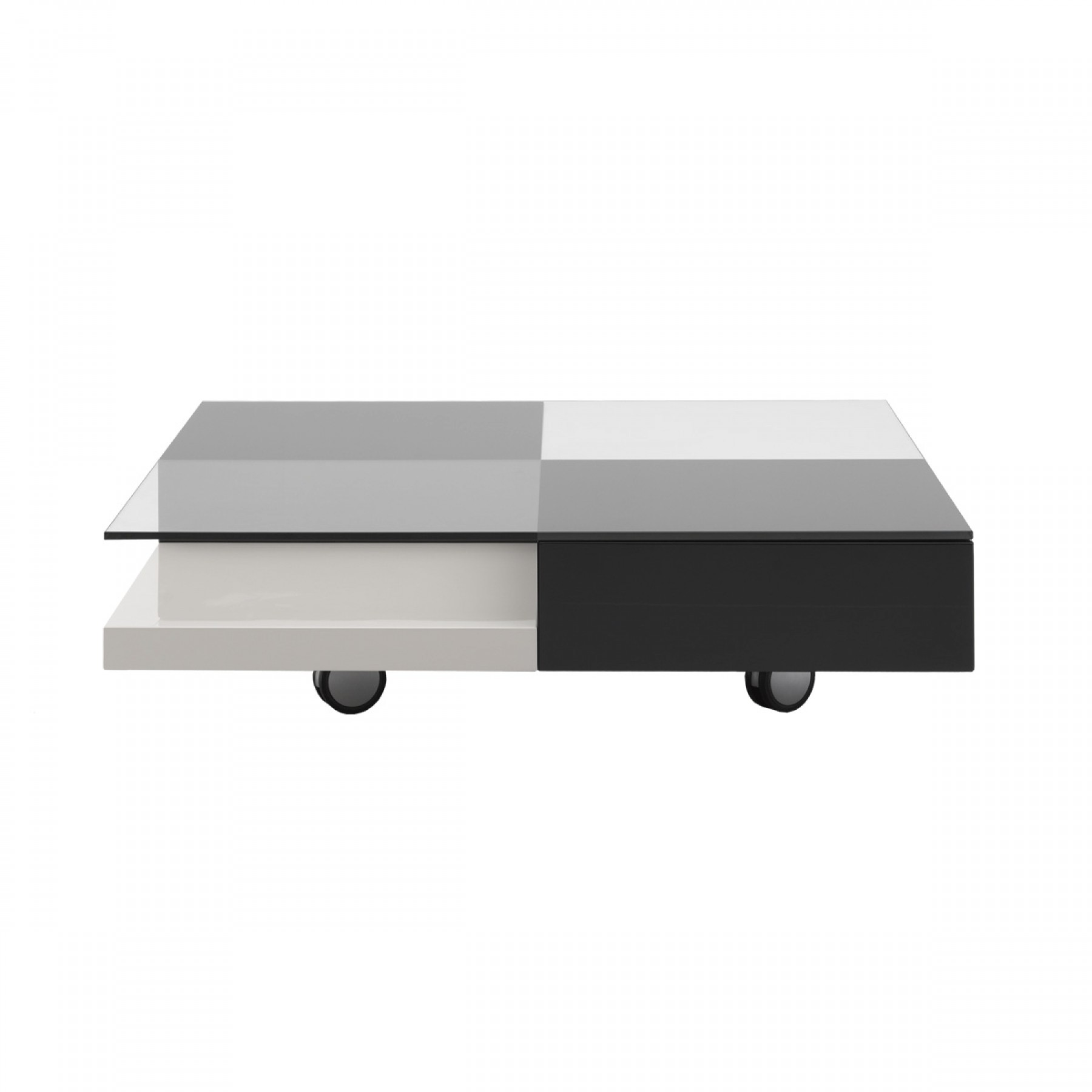 Domino Grey Beige Square Coffee Table
