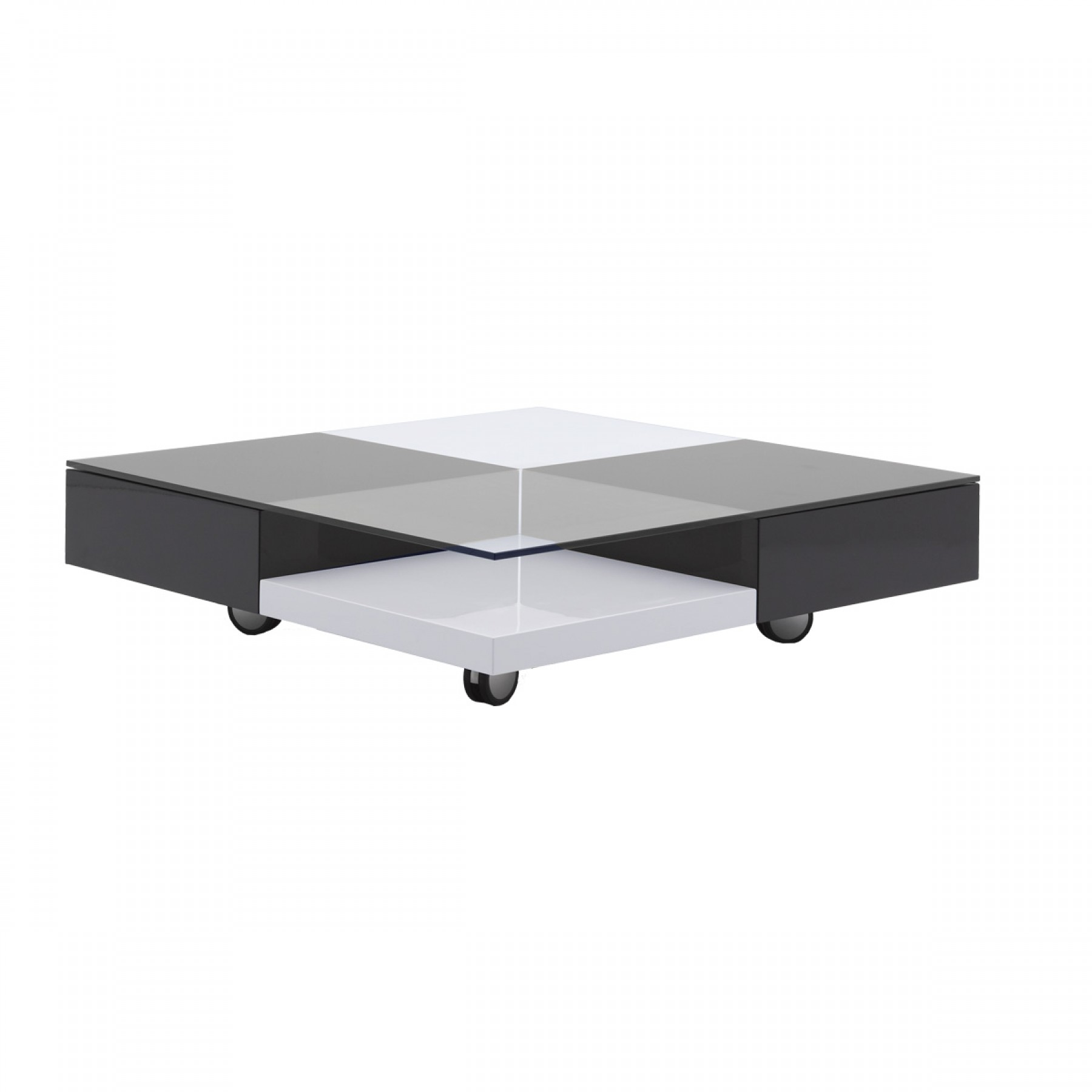 ... Domino Grey White Square Coffee Table