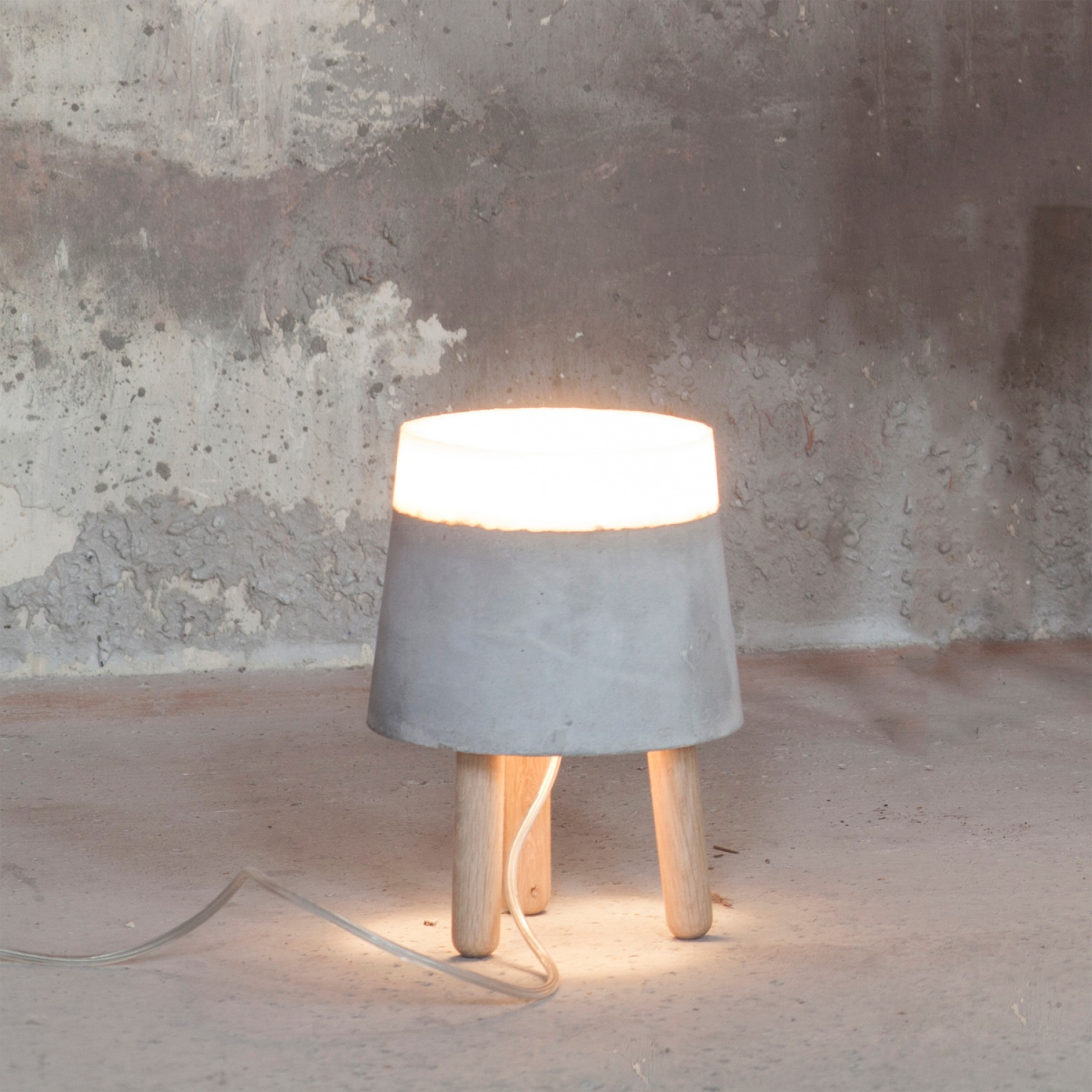 Beton Small Concrete Table Lamp Beyond Furniture