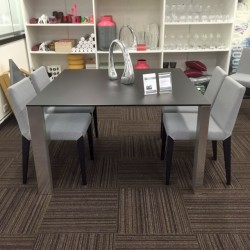 CLEARANCE-GREY-GLASS-DINING-TABLE