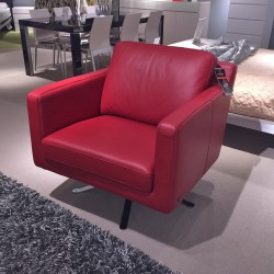 clearance-red-leather-armchair