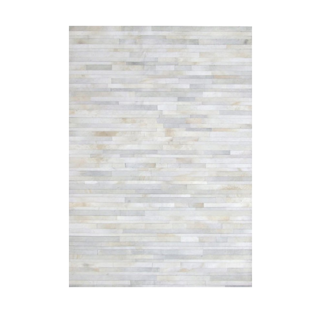 Cowhide Leather Stripes White Rug Beyond Furniture