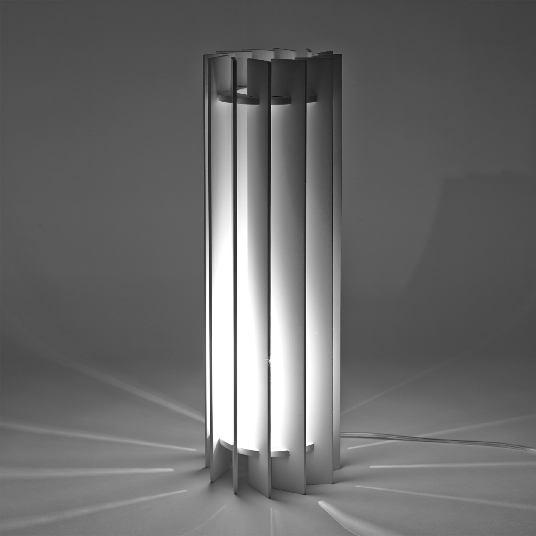 Vento Straight White Table Lamp Beyond Furniture