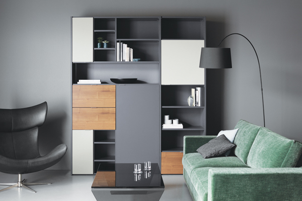 Black modern bookcase - Copenhagen