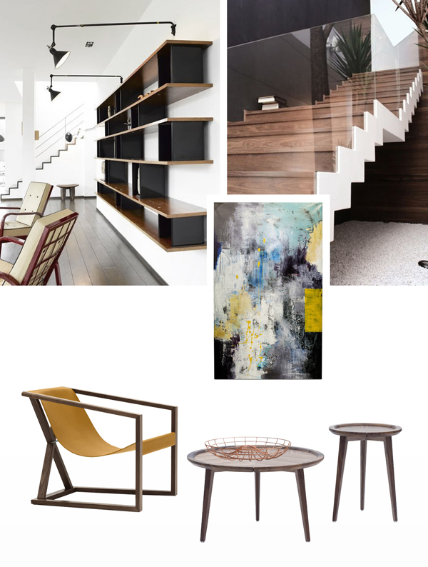 Styling tips modern walnut furniture for Walnut furniture living room