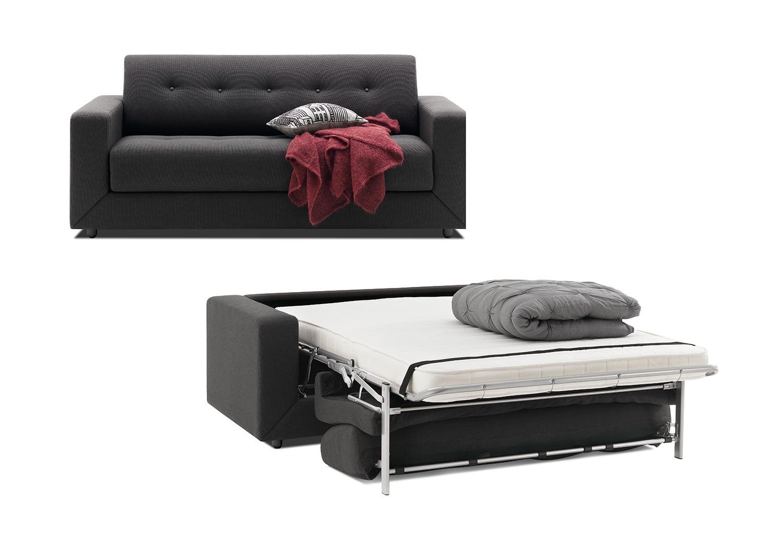Stockholm Black Foldout Sofa Bed Sydney
