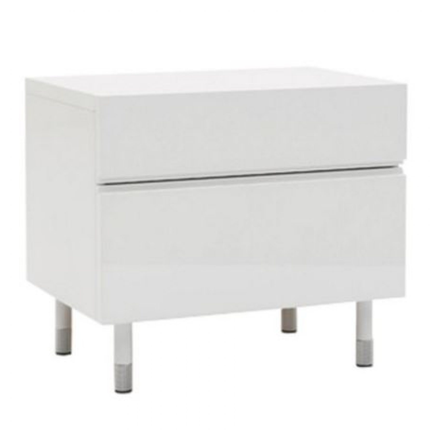 Blocco bedside table large 600mm glossy white beyond furniture capture watchthetrailerfo