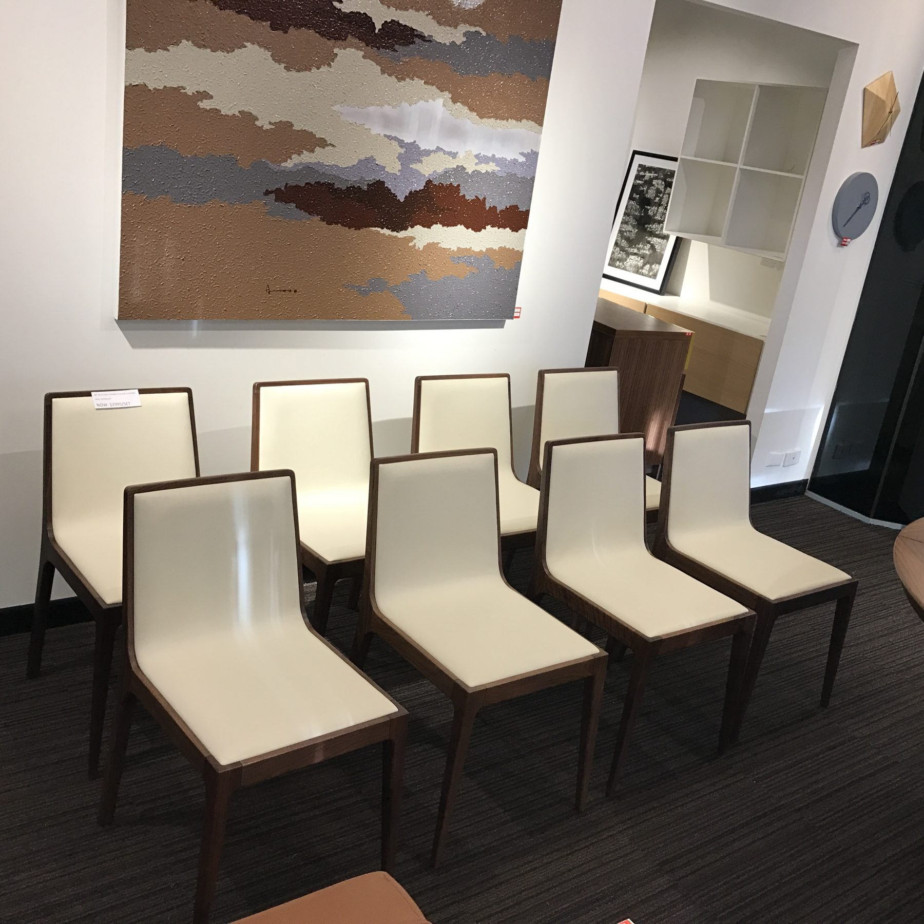 Brand New Set Of 8 Theo Chairs Leather Imported From