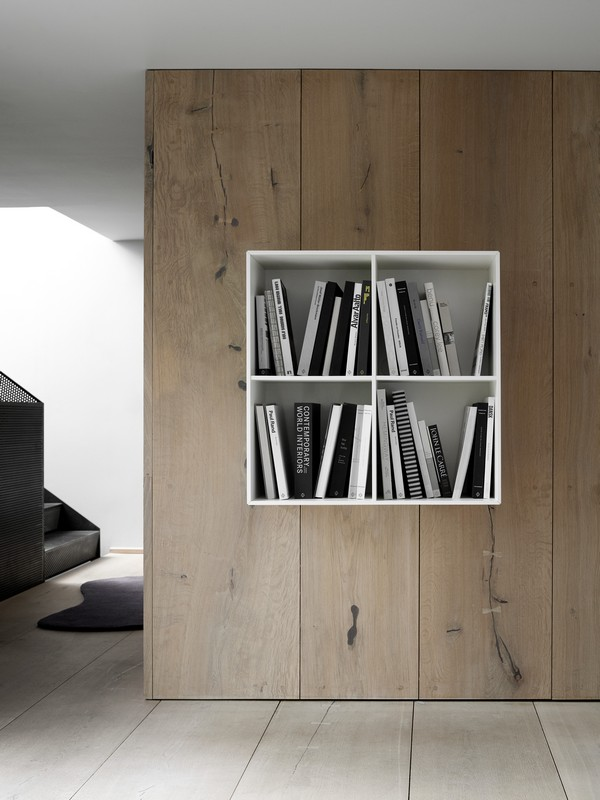Como modern hanging bookshelf