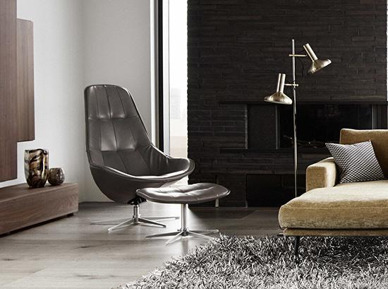 Boston leather armchair