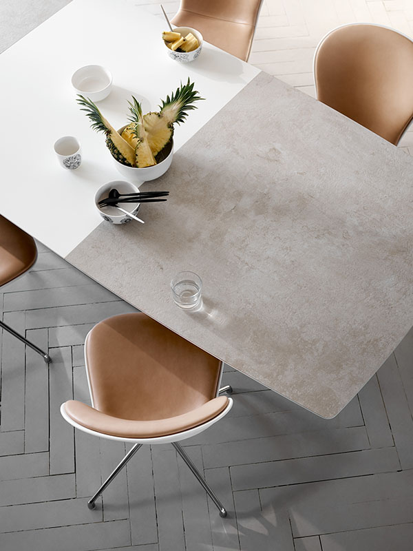 Milano modern extendable dining table