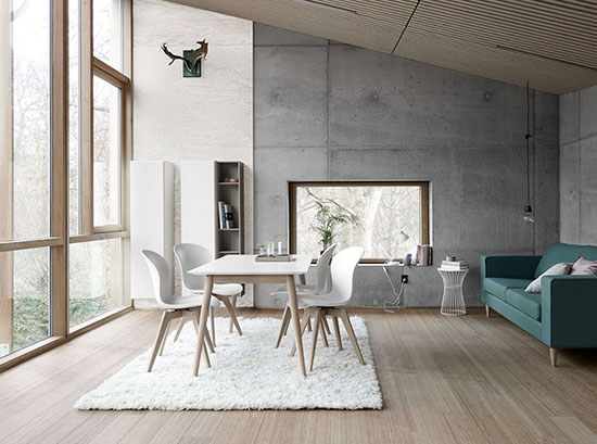 milano scandinavian dining table by boconcept