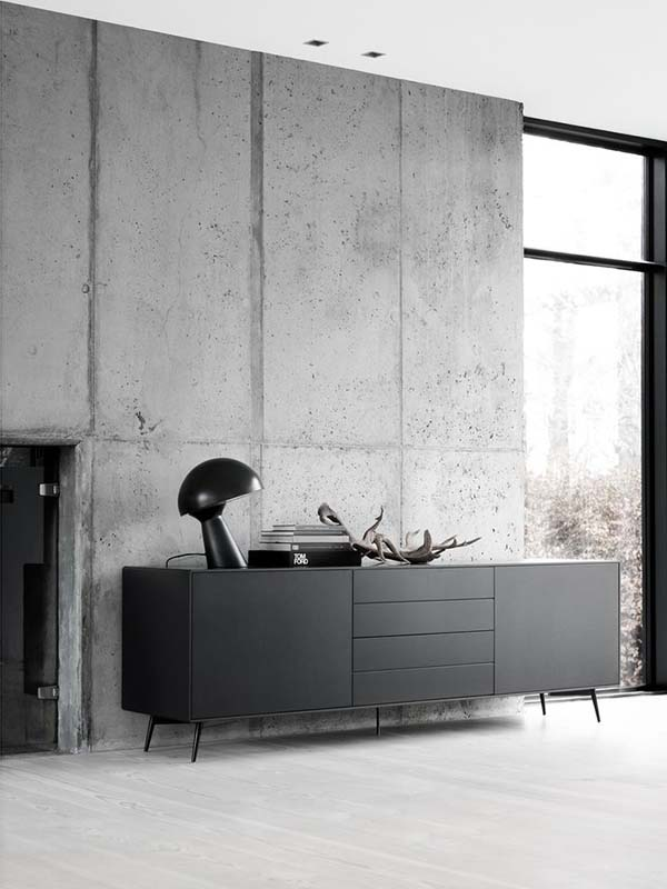 Fermo black modern sideboard
