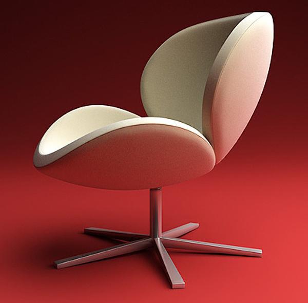 Schelly white modern armchair