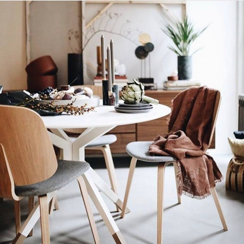 Billund Small Round Wooden Dining Table By Boconcept