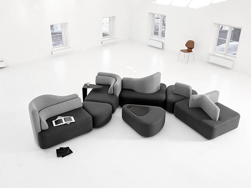 Ottawa modern black sofa