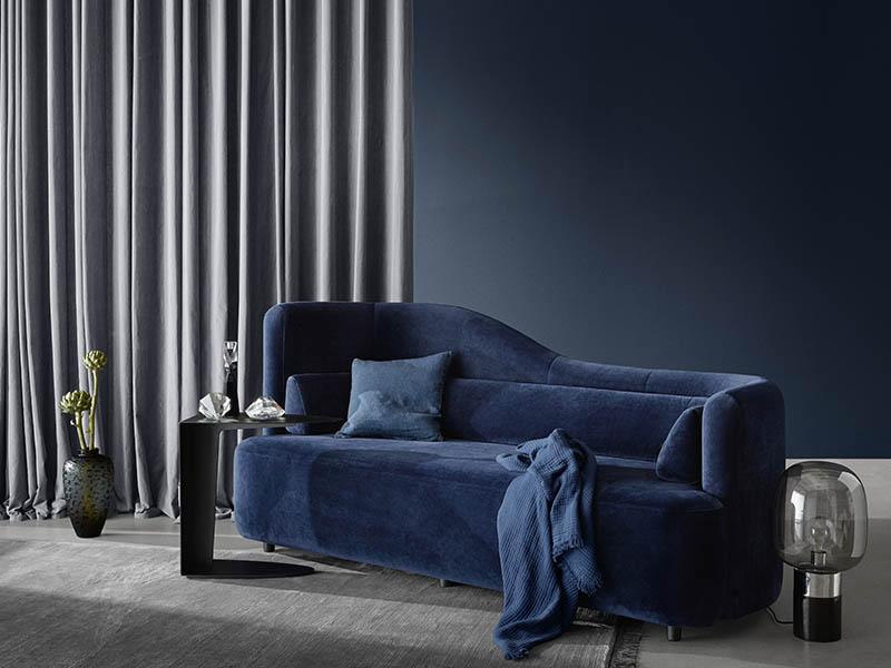 Ottawa blue fabric sofa Sydney