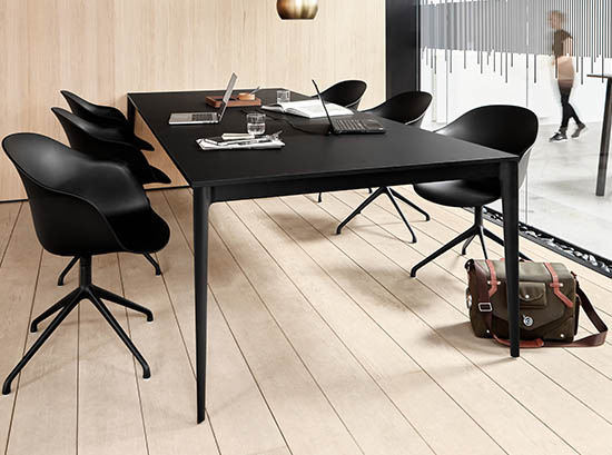 Torino modern black dining table