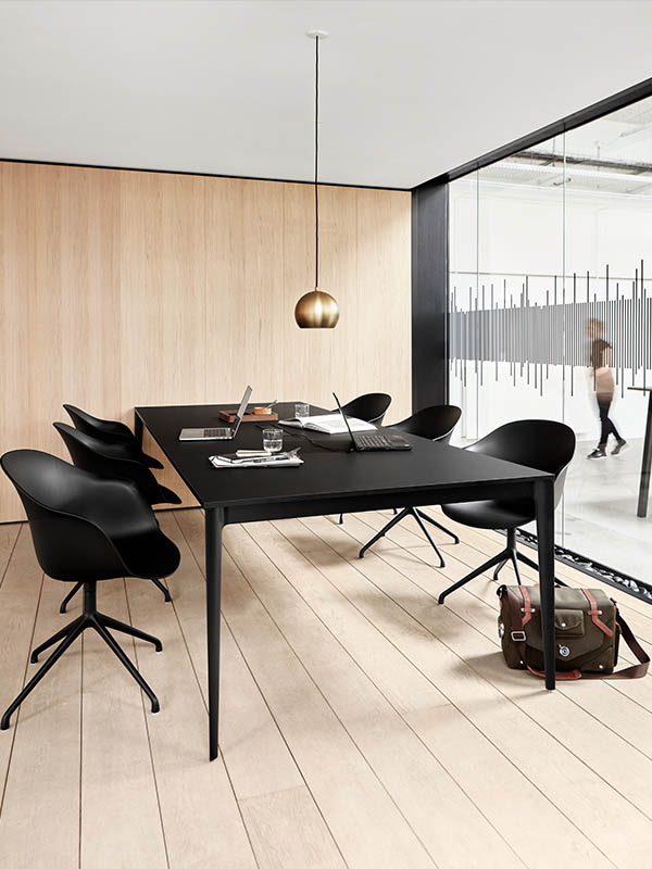 Torino modern black conference table