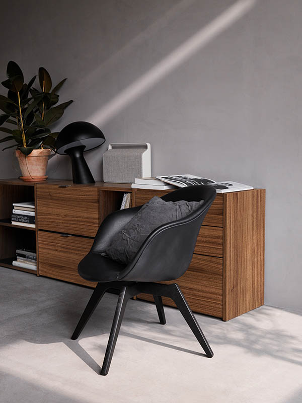 Adelaide black designer living chair Sydney