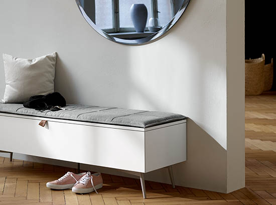 Lugano modern storage bench