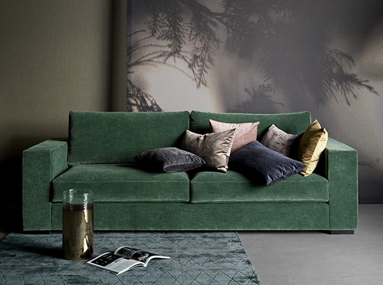 Cenova modern green sofa Sydney