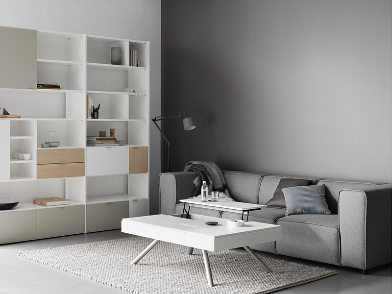 Carmo - modern grey fabric sofa Sydney