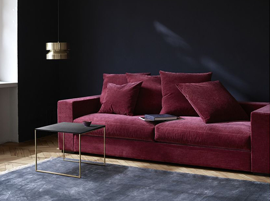 Cenova - red fabric sofa Sydney