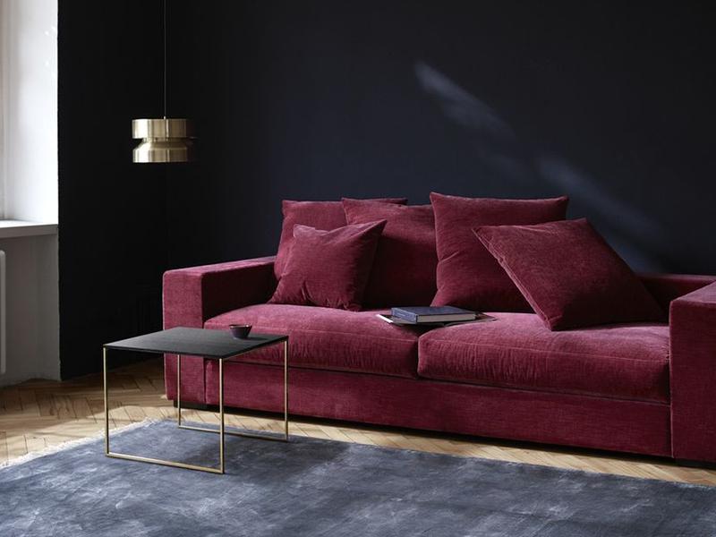 Cenova - designer red fabric sofa