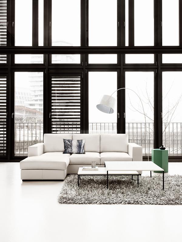 Cenova - white chaise sofa by BoConcept