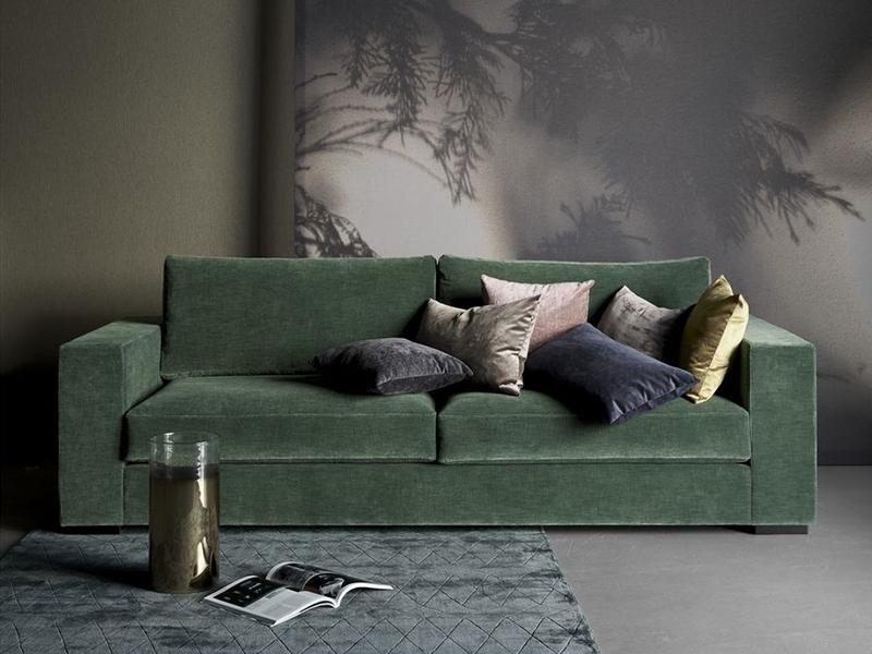 Cenova - designer green fabric sofa