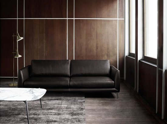 Fargo - brown leather sofa Sydney