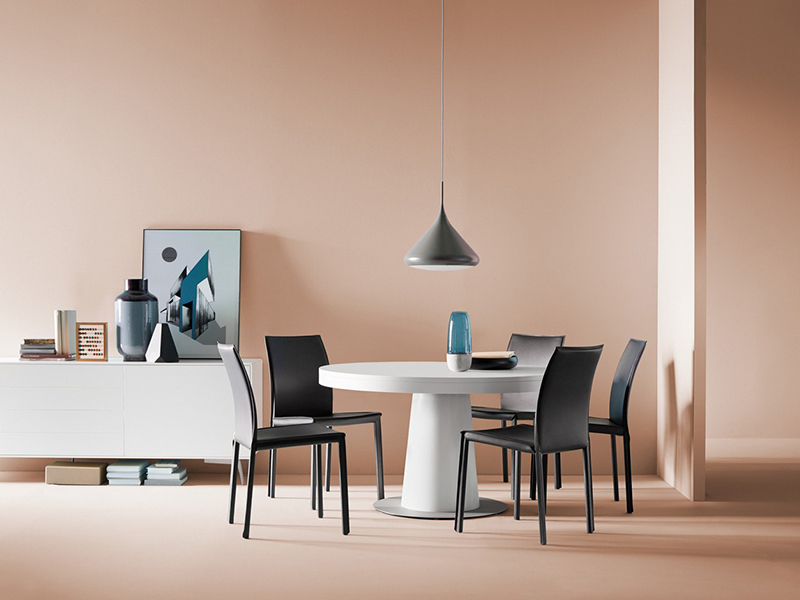 Granada - white designer round dining table