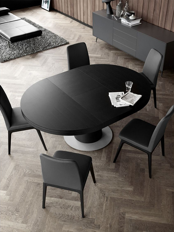 Granada - round black extendable dining table Sydney