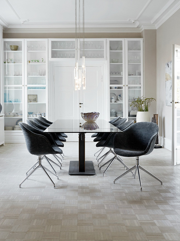 Monza - glass extendable dining table Sydney