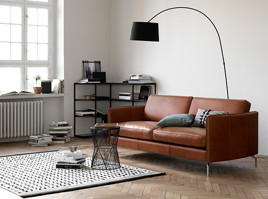 Osaka - brown leather sofa Sydney