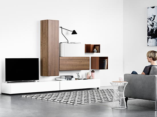 Lugano Designer TV Unit - Walnut